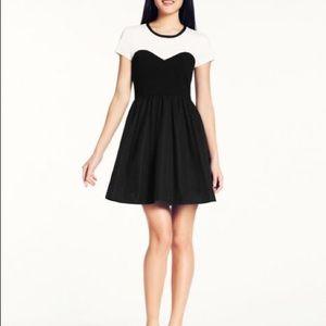 Kate Spade, Black with Cream Top Gable Dress